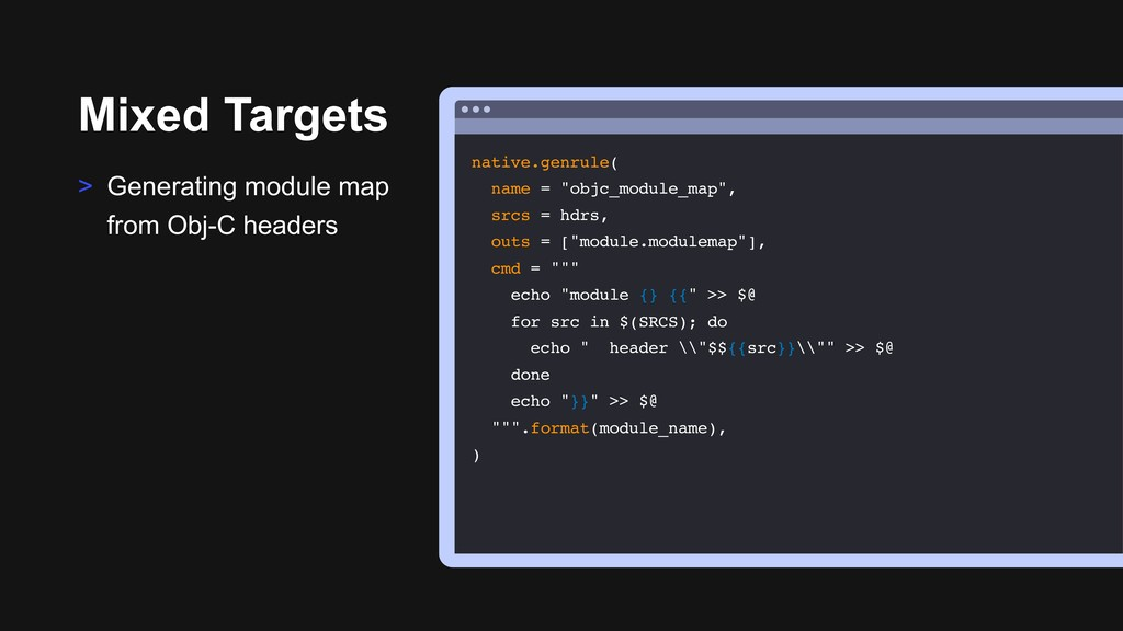 Mixed Targets > Generating module map from Obj-...