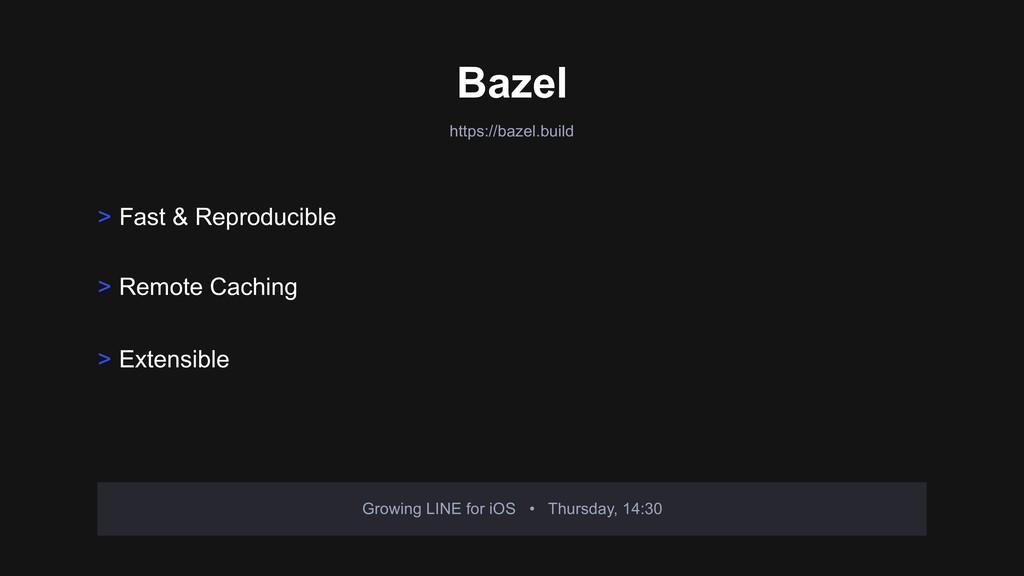 https://bazel.build Bazel Growing LINE for iOS ...