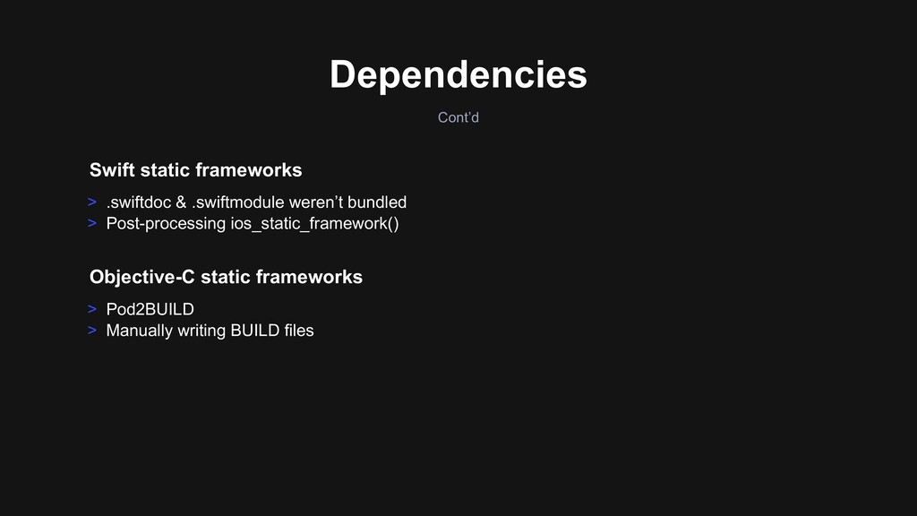 > Pod2BUILD > Manually writing BUILD files Obje...