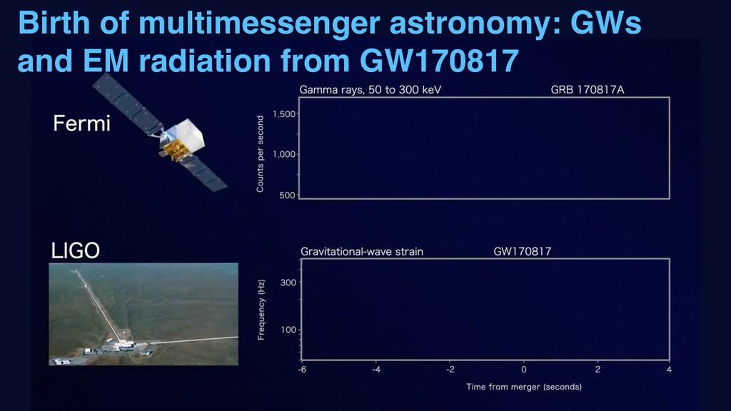 Birth of multimessenger astronomy: GWs and EM r...