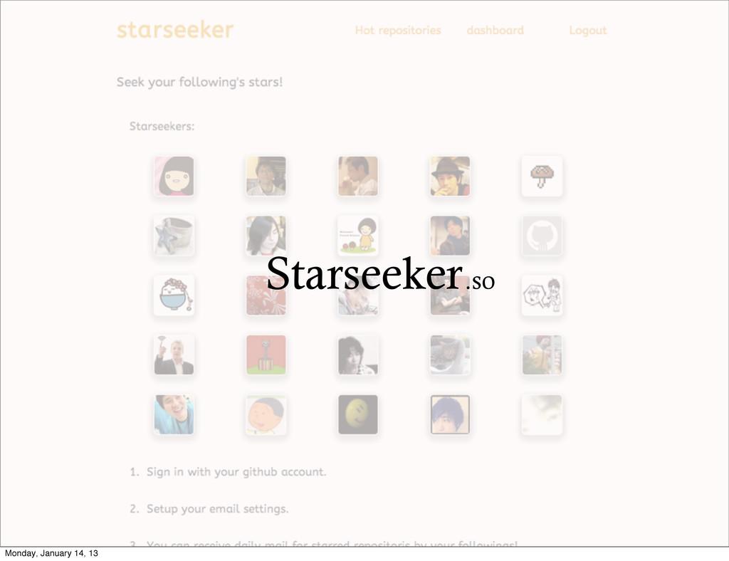 Starseeker.so Monday, January 14, 13
