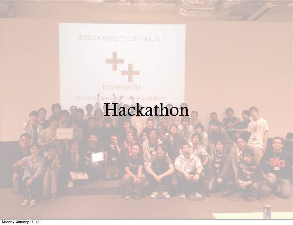 Hackathon Monday, January 14, 13