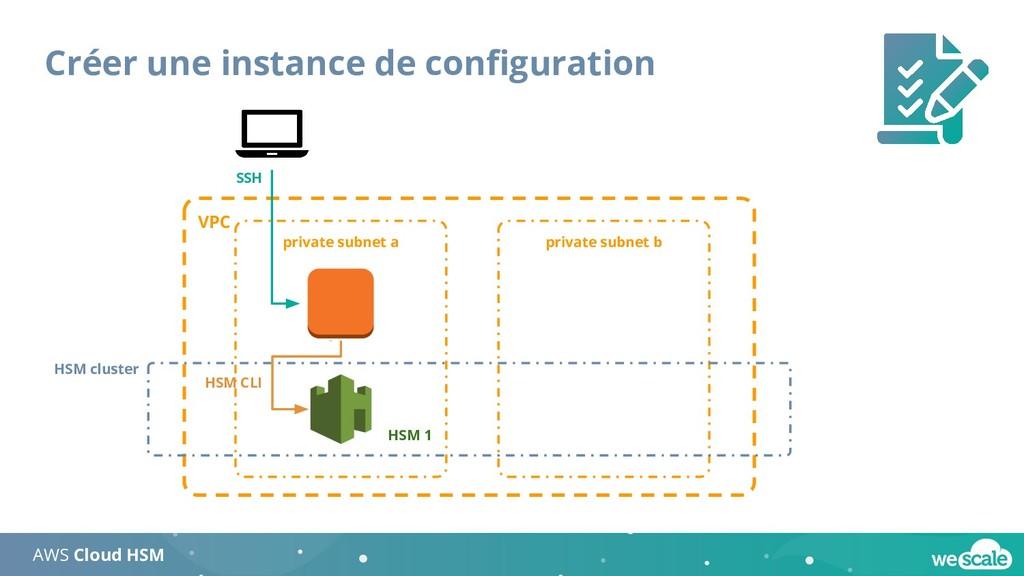 Créer une instance de configuration AWS Cloud HS...