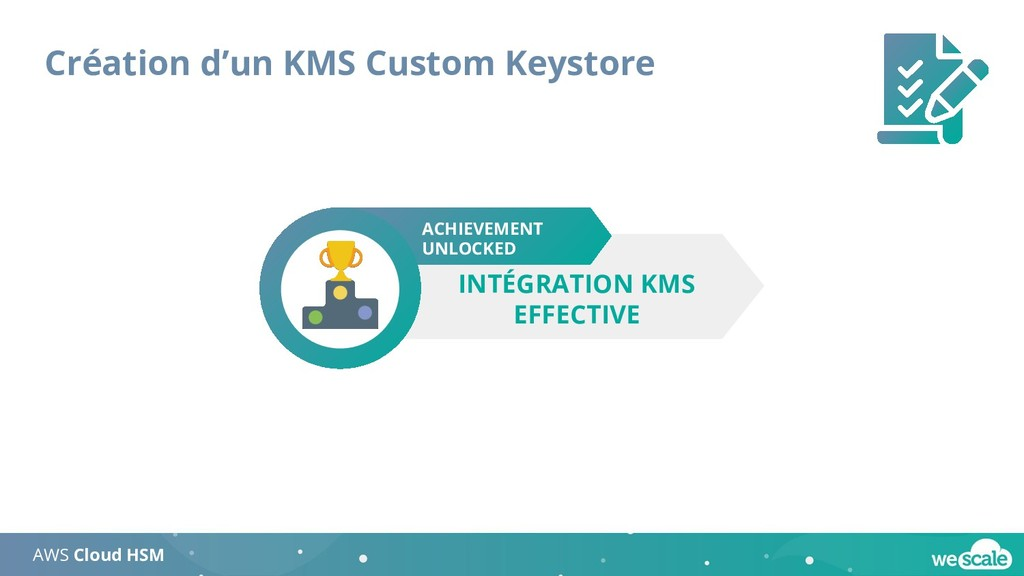 Création d'un KMS Custom Keystore AWS Cloud HSM...