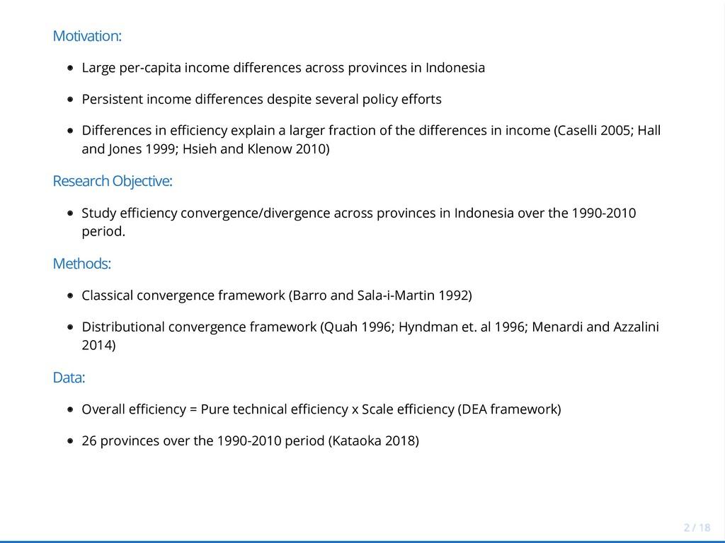 Motivation: Large per-capita income differences...