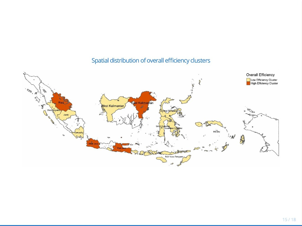 Spatial distribution of overall e ciency cluste...