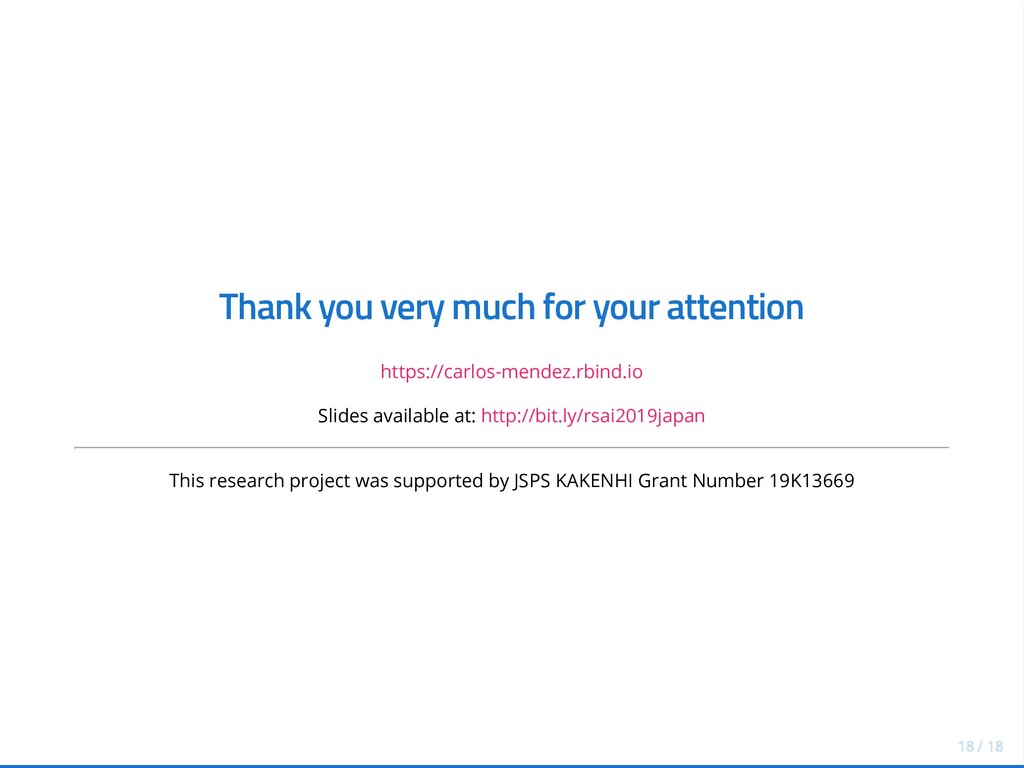 Thank you very much for your attention https://...