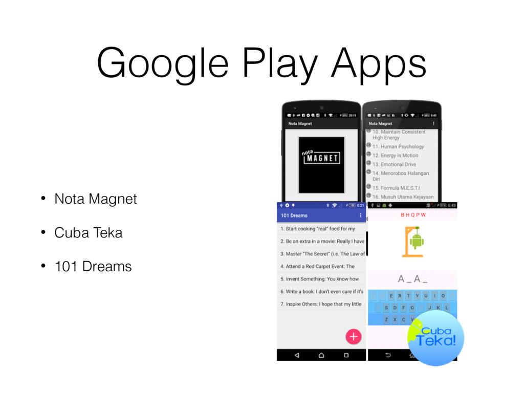 Google Play Apps • Nota Magnet • Cuba Teka • 10...