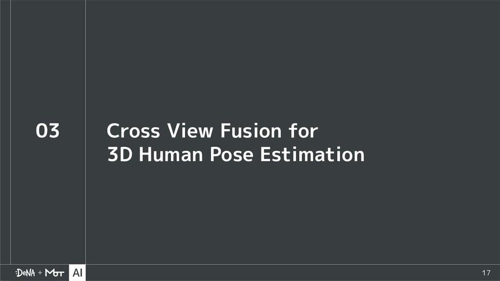 17 03 Cross View Fusion for 3D Human Pose Estim...