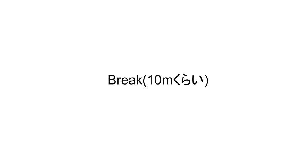 Break(10mくらい)