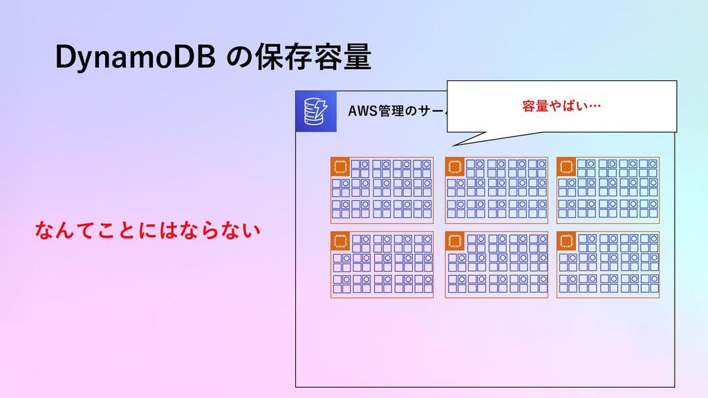 DynamoDB の保存容量 AWS管理のサーバクラスタ 容量やばい… なんてことにはならない