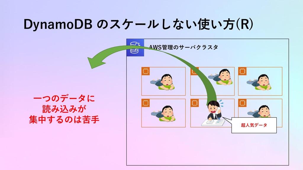 DynamoDB のスケールしない使い方(R) AWS管理のサーバクラスタ 超人気データ 一つ...
