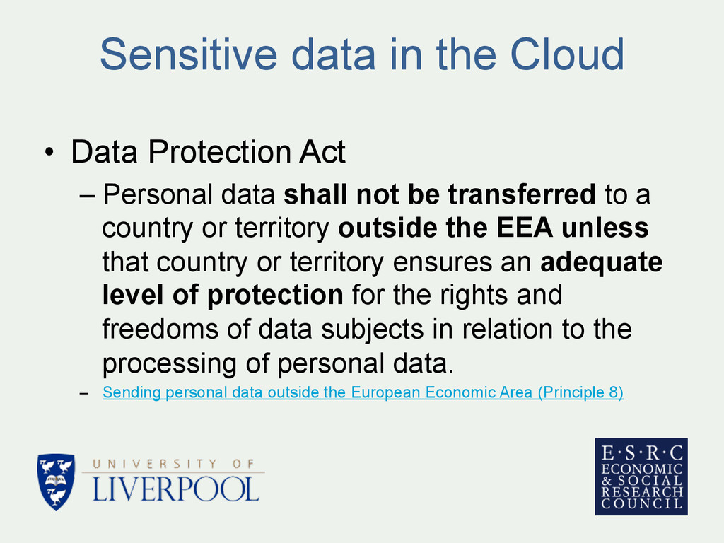 Sensitive data in the Cloud • Data Protection ...