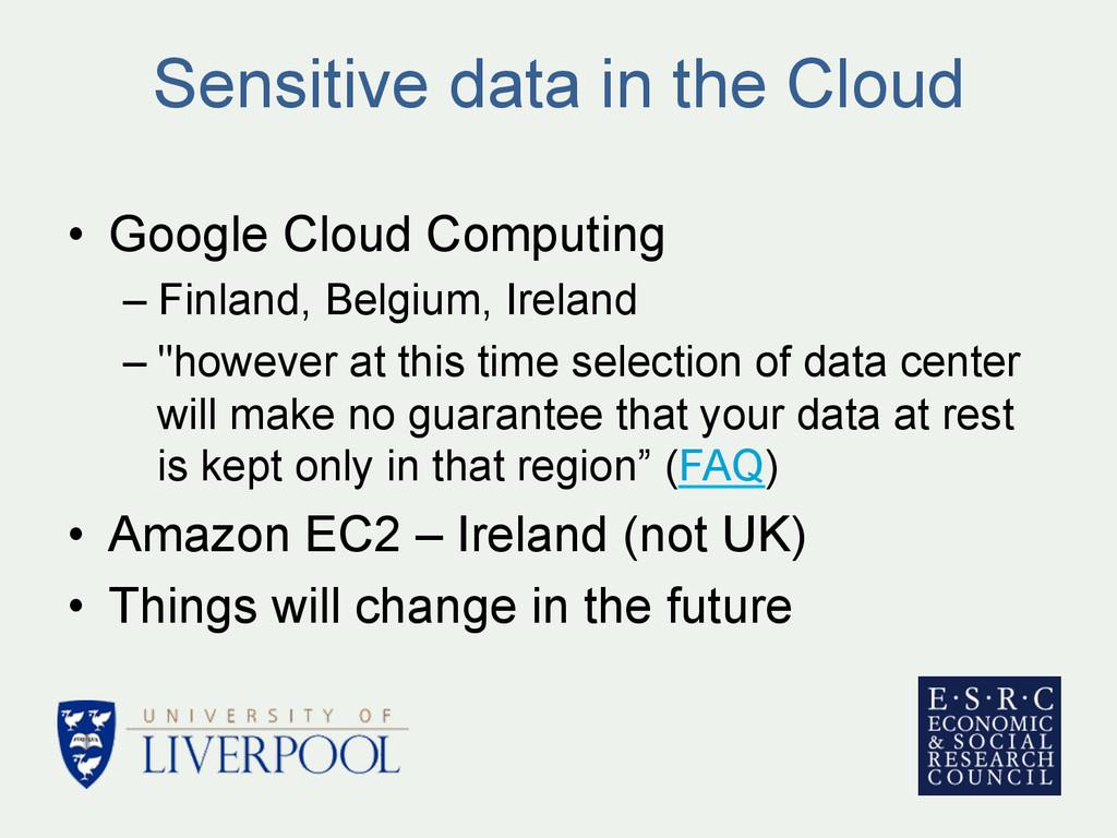 Sensitive data in the Cloud • Google Cloud Com...