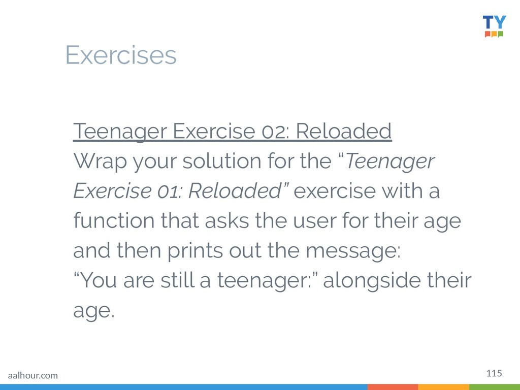 115 Teenager Exercise 02: Reloaded Wrap your so...