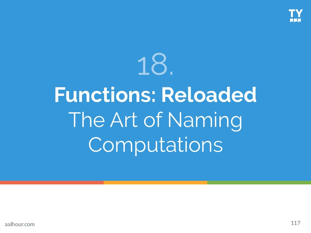 18. Functions: Reloaded The Art of Naming Compu...