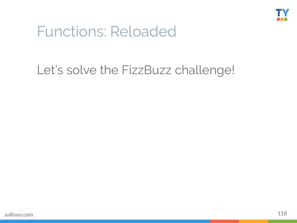 118 Let's solve the FizzBuzz challenge! Functio...