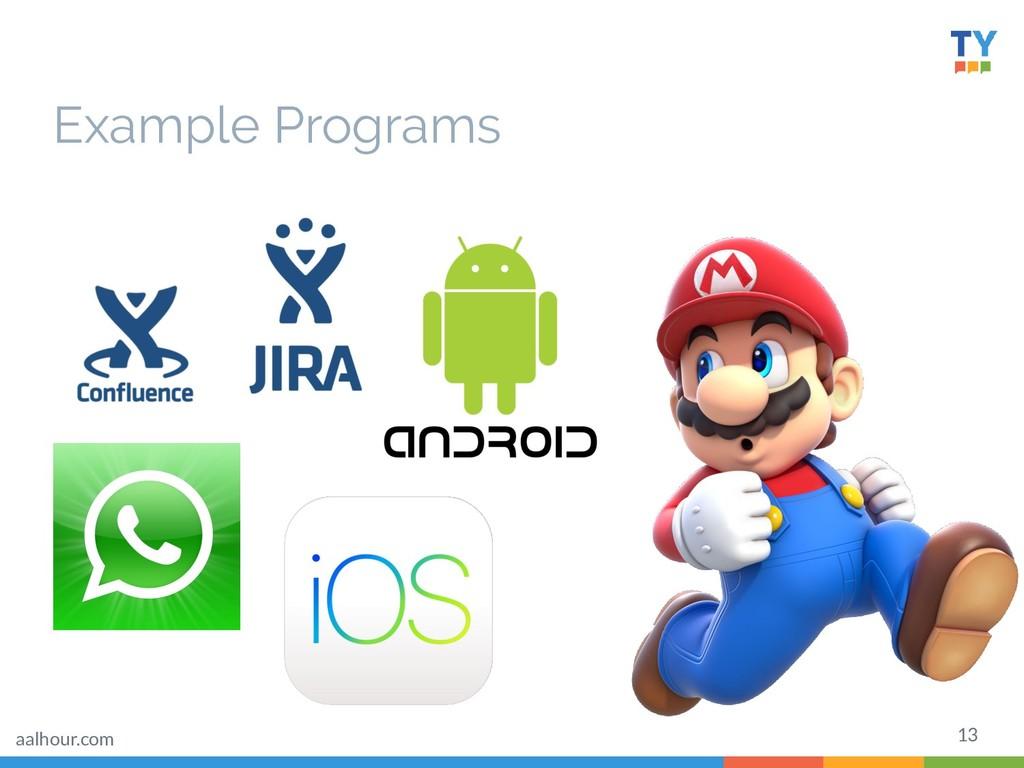Example Programs 13 aalhour.com