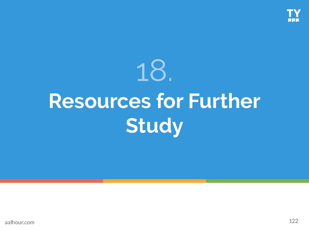 18. Resources for Further Study 122 aalhour.com