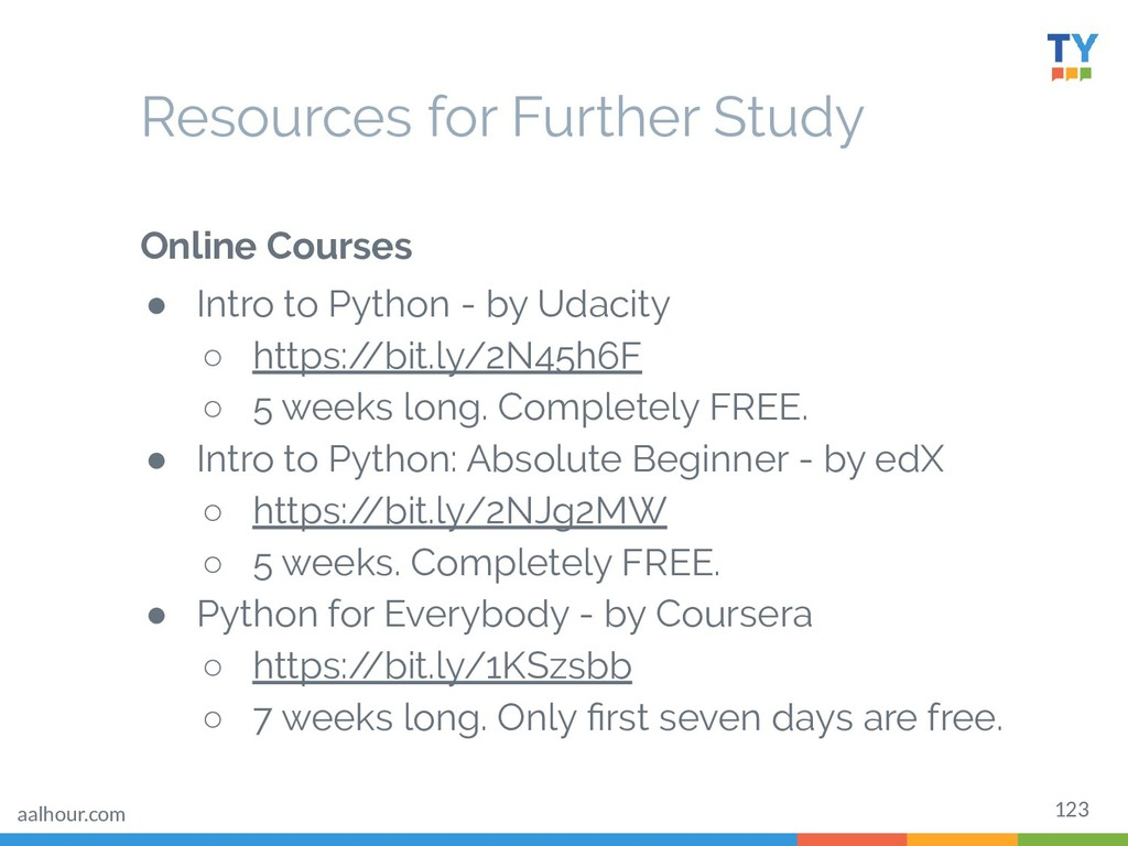 123 Online Courses ● Intro to Python - by Udaci...