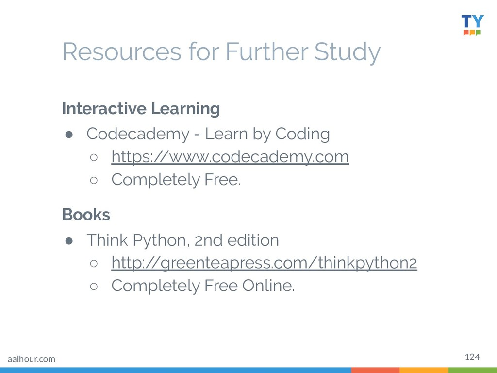 124 Resources for Further Study Interactive Lea...