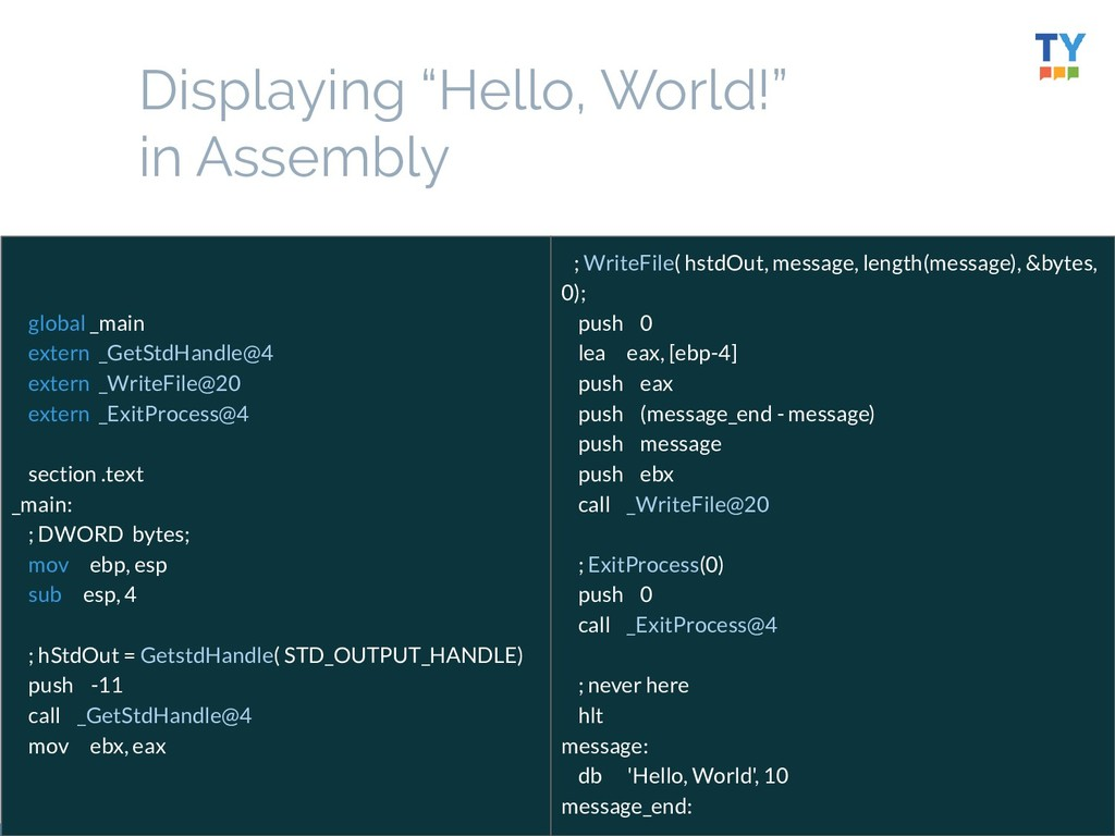 """24 Displaying """"Hello, World!"""" in Assembly globa..."""