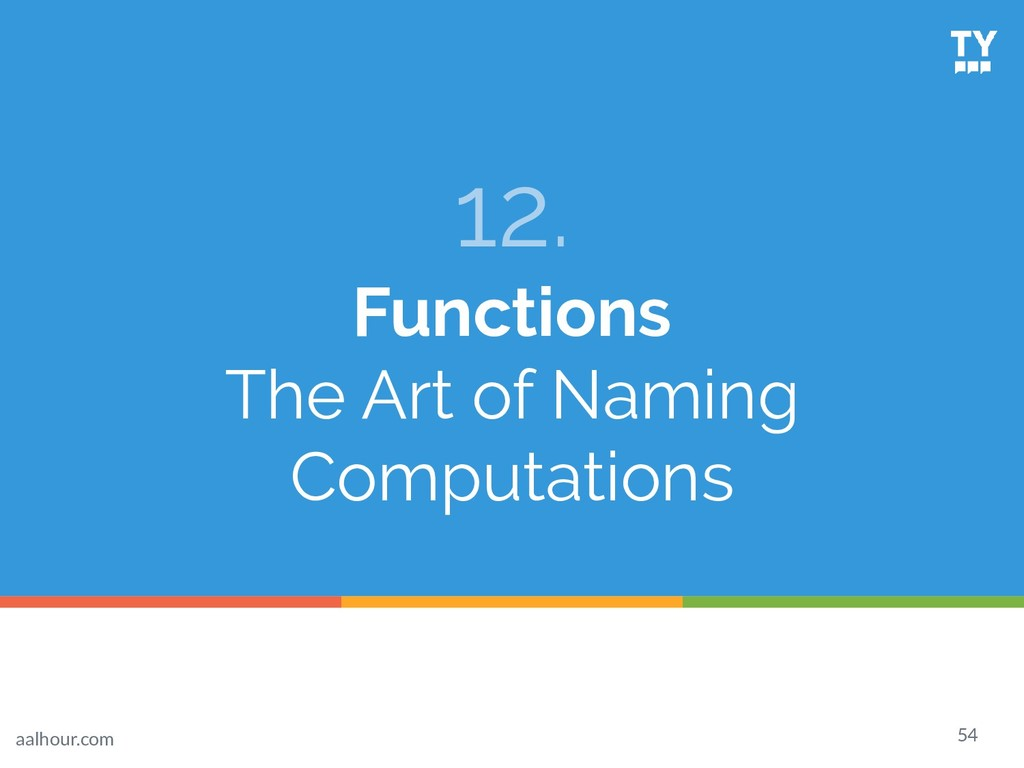 54 12. Functions The Art of Naming Computations...