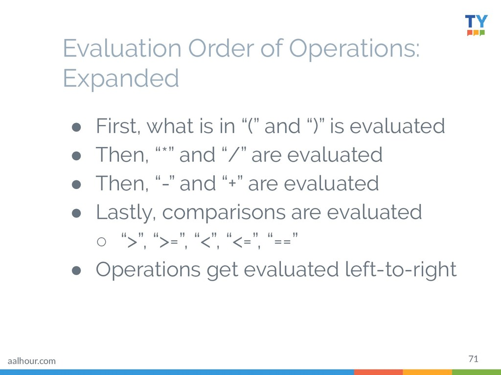 """71 ● First, what is in """"("""" and """")"""" is evaluated..."""