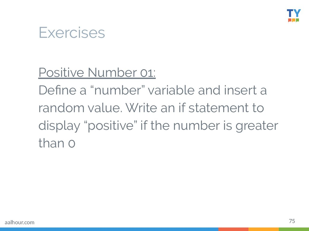 """75 Exercises Positive Number 01: Define a """"numbe..."""