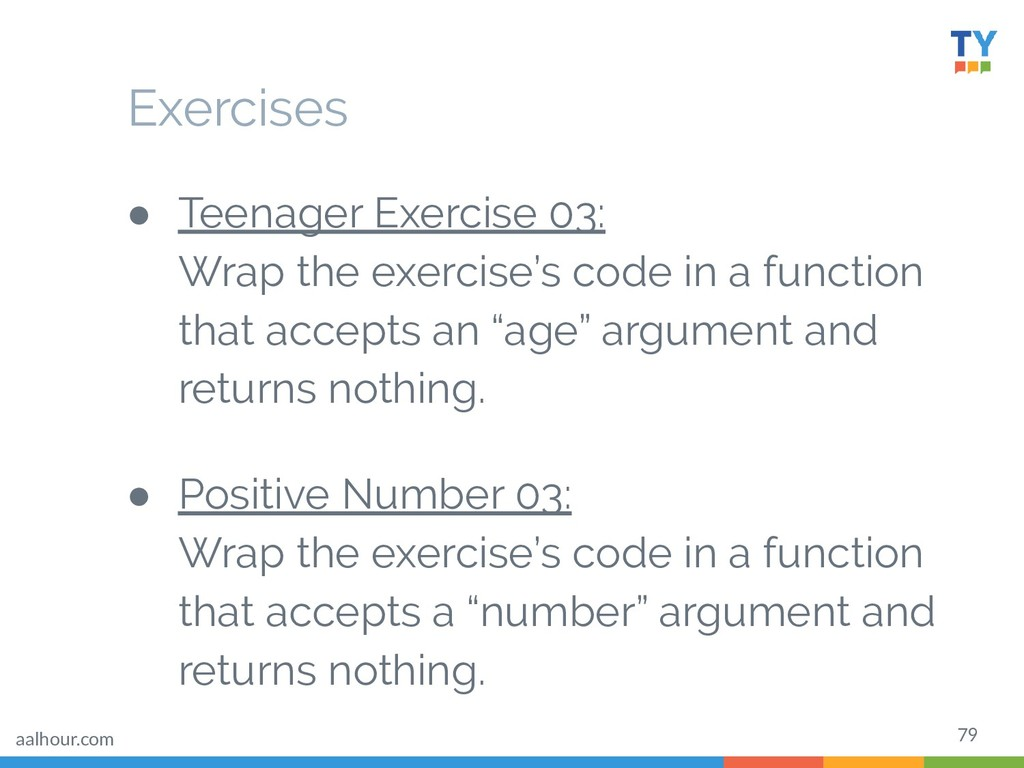 79 ● Teenager Exercise 03: Wrap the exercise's ...