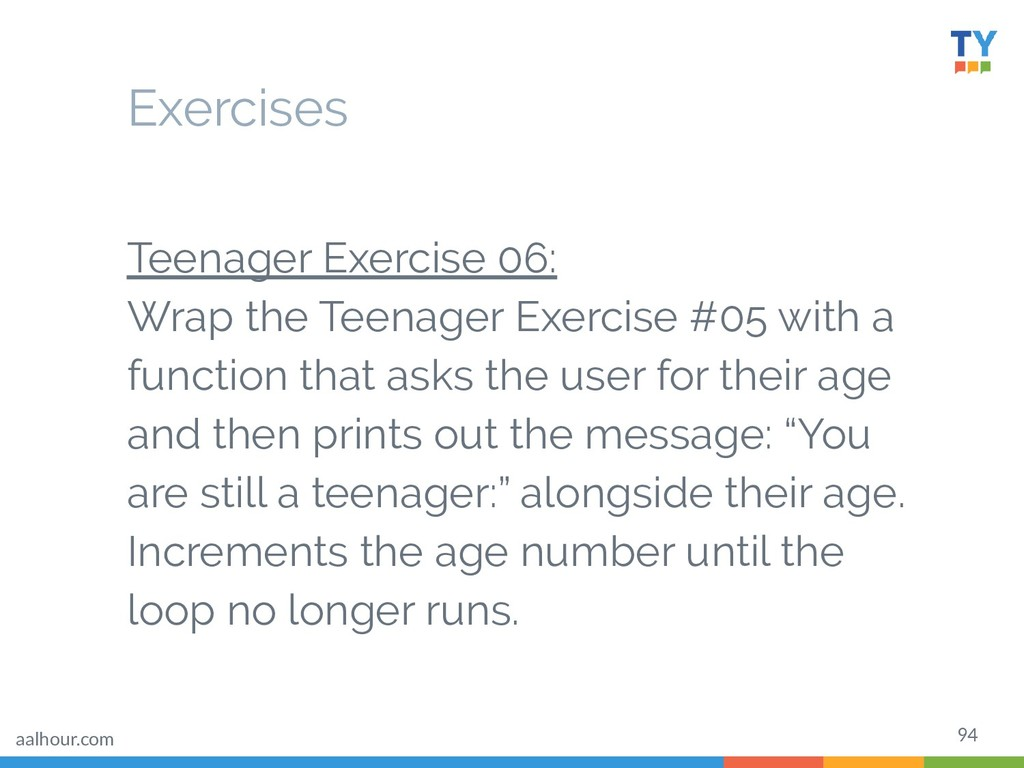 94 Teenager Exercise 06: Wrap the Teenager Exer...