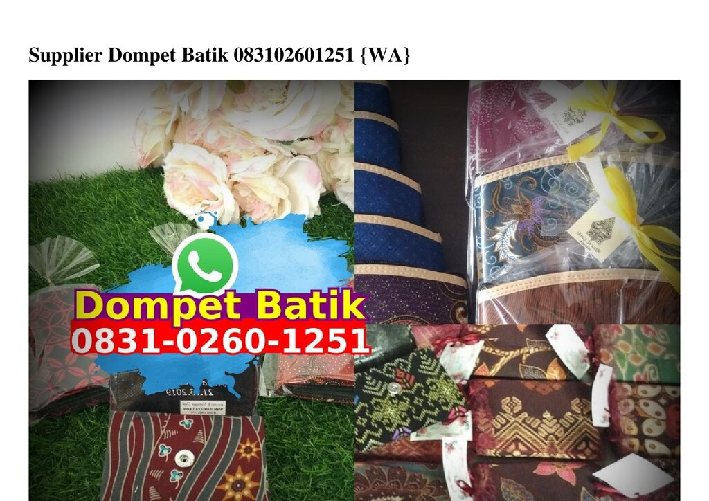 Supplier Dompet Batik 083102601251 {WA}