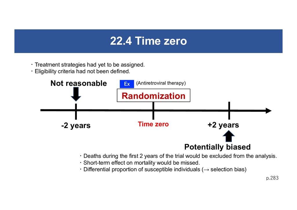 22.4 Time zero p.283 Randomization Not reasonab...