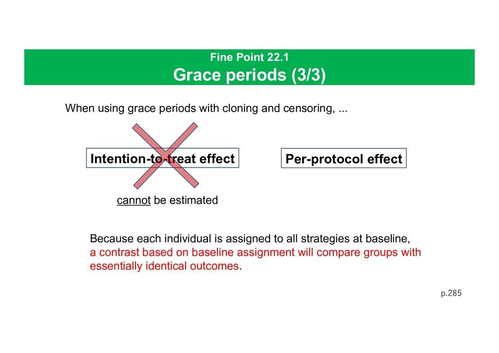Fine Point 22.1 Grace periods (3/3) p.285 When ...