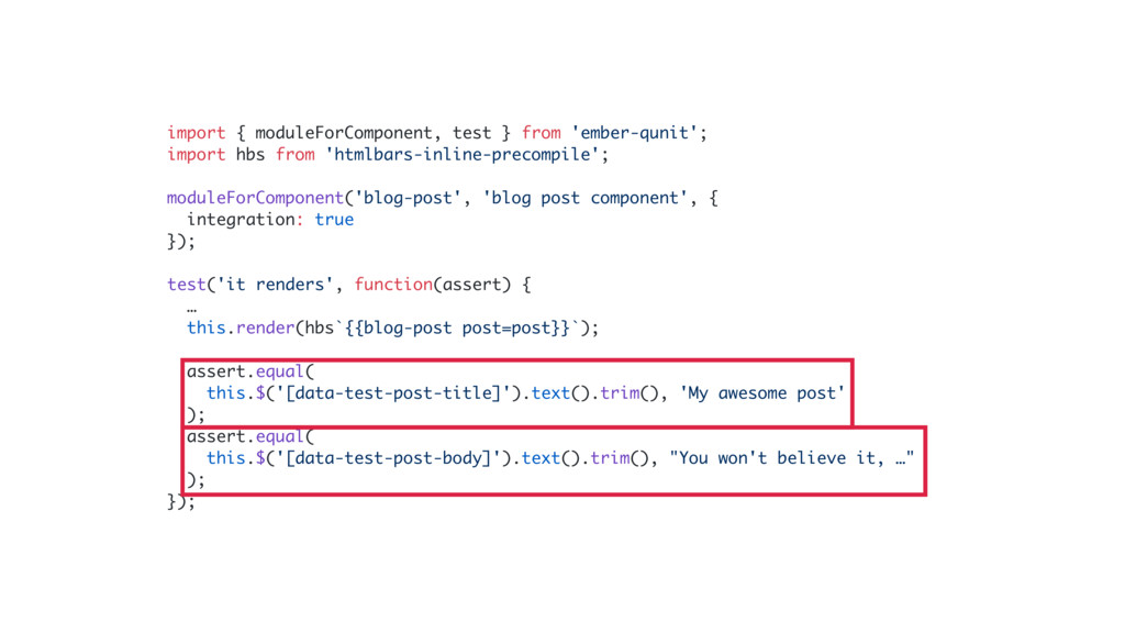 import { moduleForComponent, test } from 'ember...