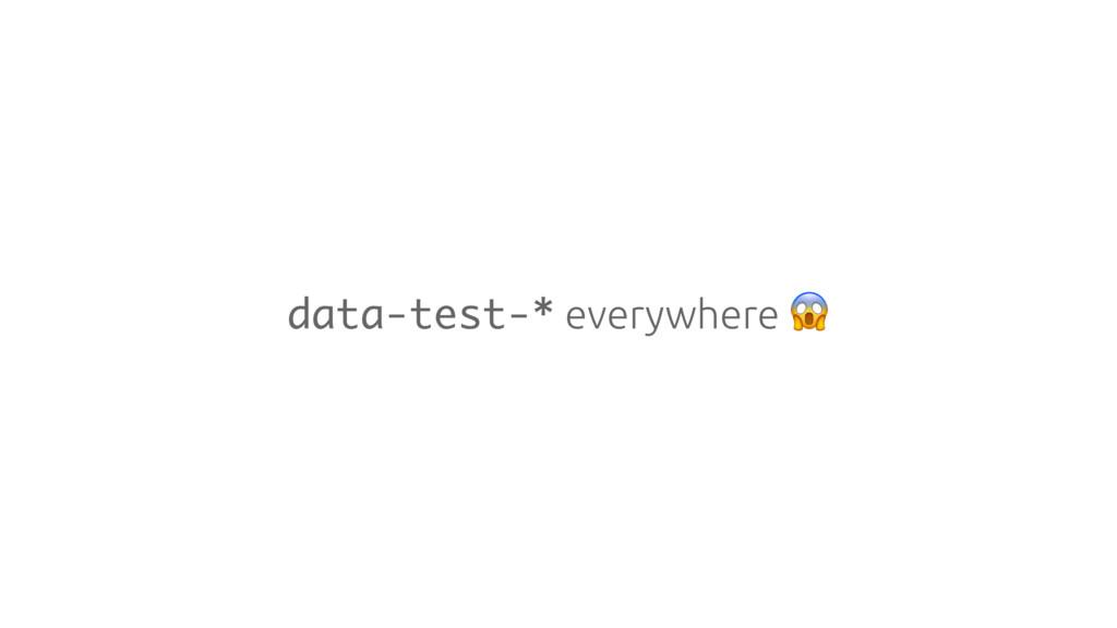 data-test-* everywhere
