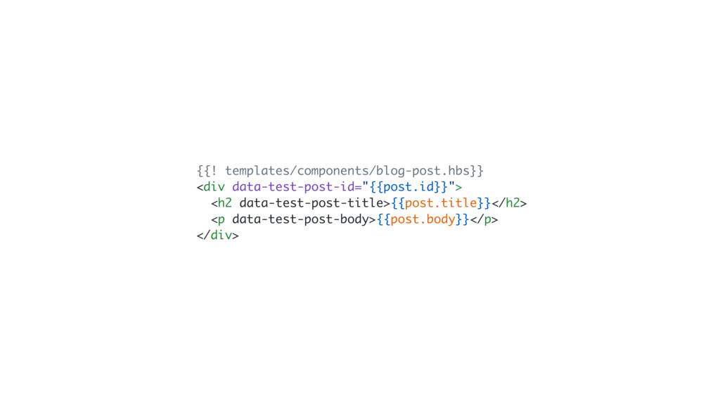 {{! templates/components/blog-post.hbs}} <div d...