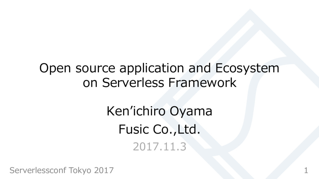 Open source application and Ecosystem on Server...