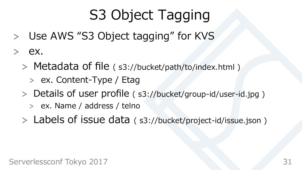 """S3 Object Tagging  Use AWS """"S3 Object tagging..."""