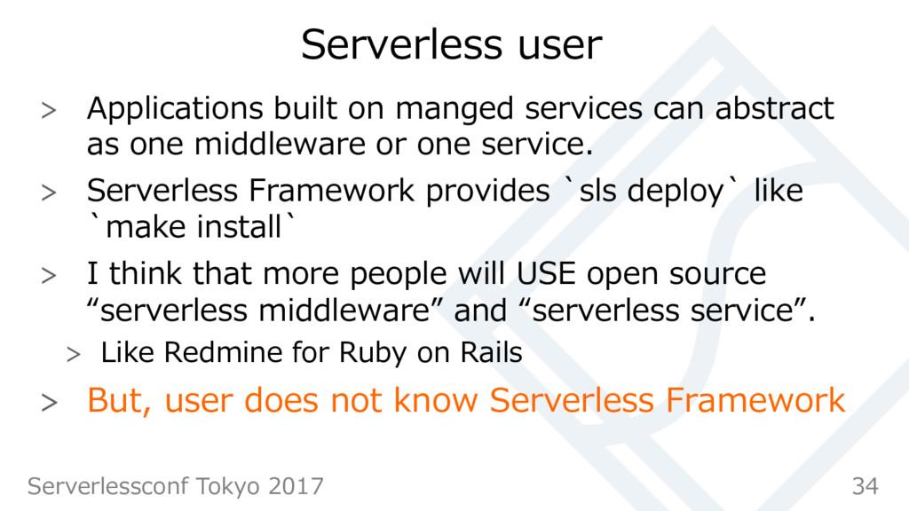 Serverless user  Applications built on manged...