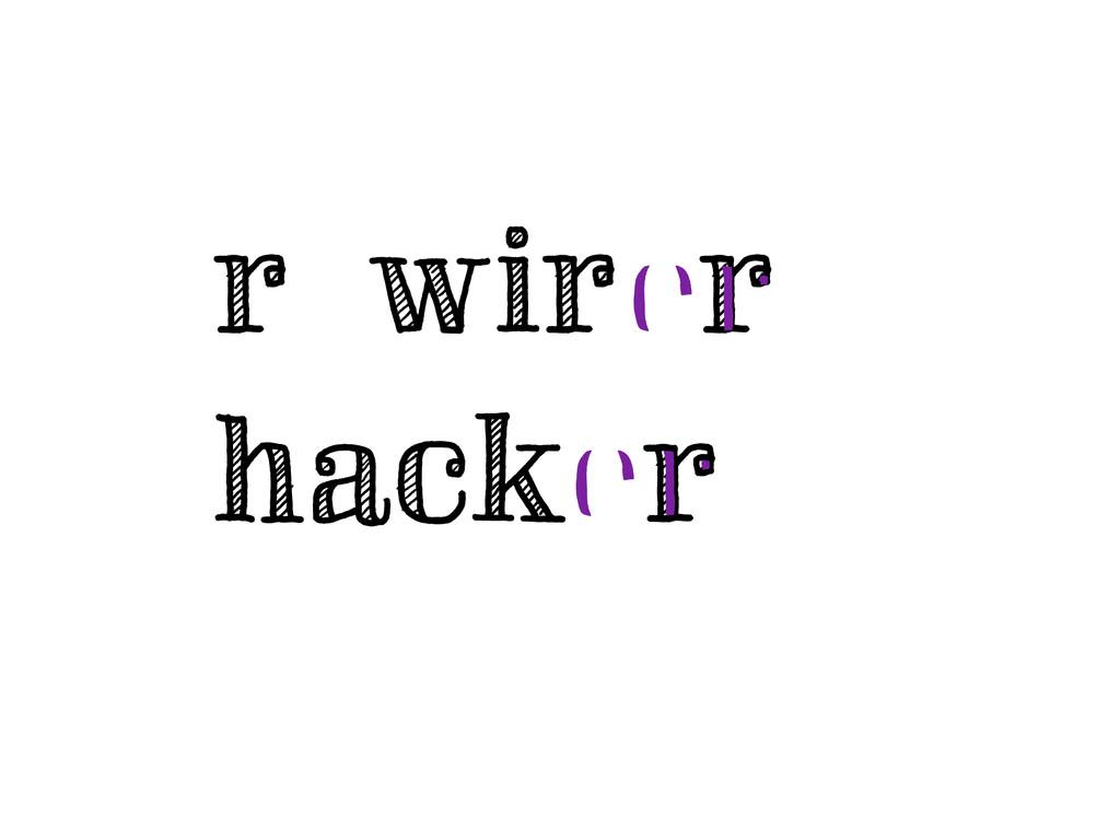 rewirer hacker er er