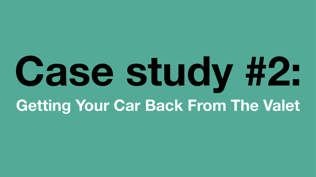 Case study #2: Getting Your Car Back From The V...