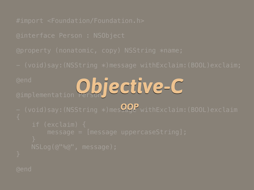 Objective-C OOP #import <Foundation/Foundation....
