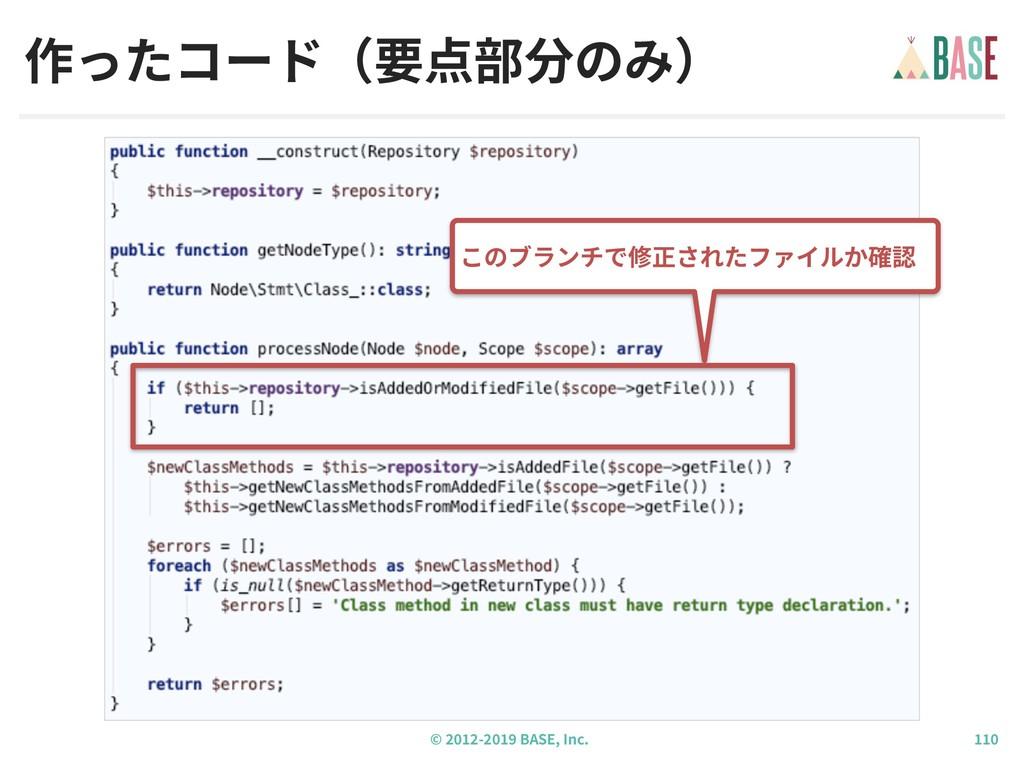 © - BASE, Inc. 作ったコード(要点部分のみ) このブランチで修正されたファイルか...