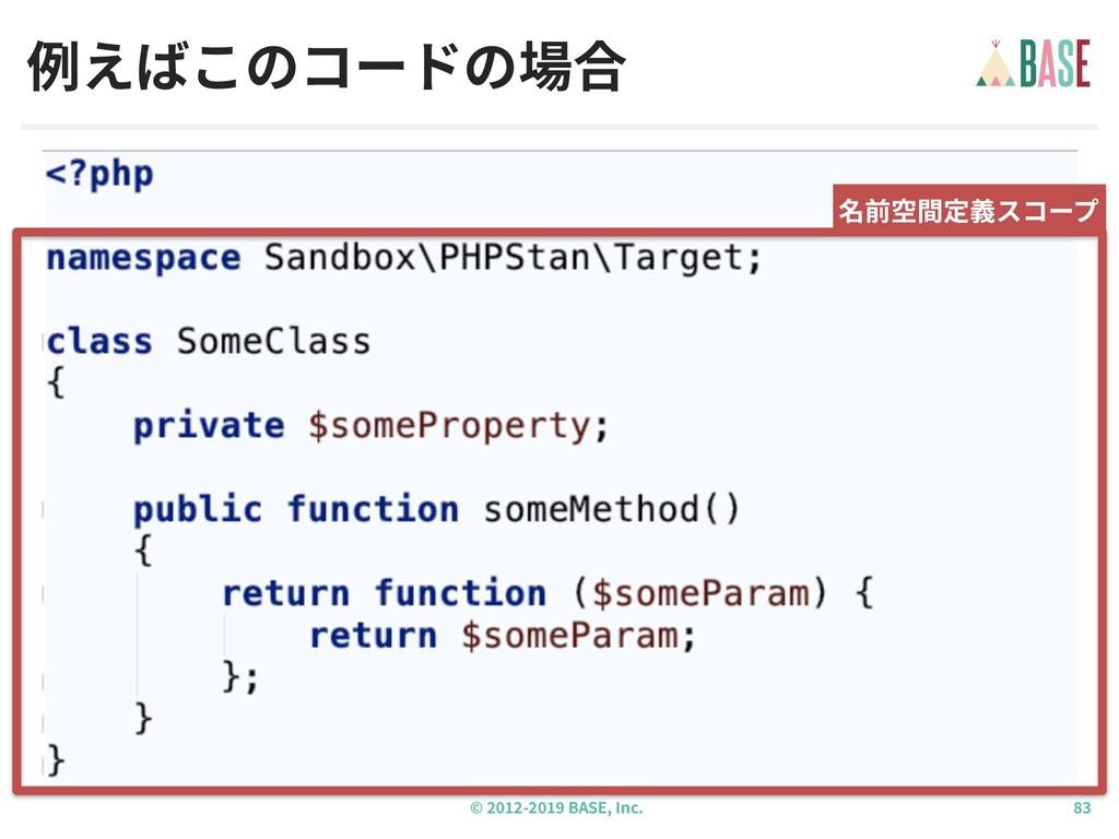 © - BASE, Inc. 例えばこのコードの場合 名前空間定義スコープ