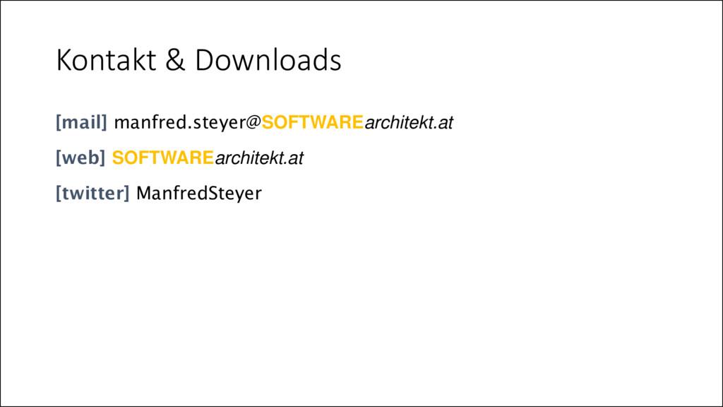 Kontakt & Downloads [mail] manfred.steyer@SOFTW...