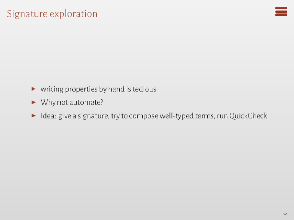 Signature exploration ▶ writing properties by h...