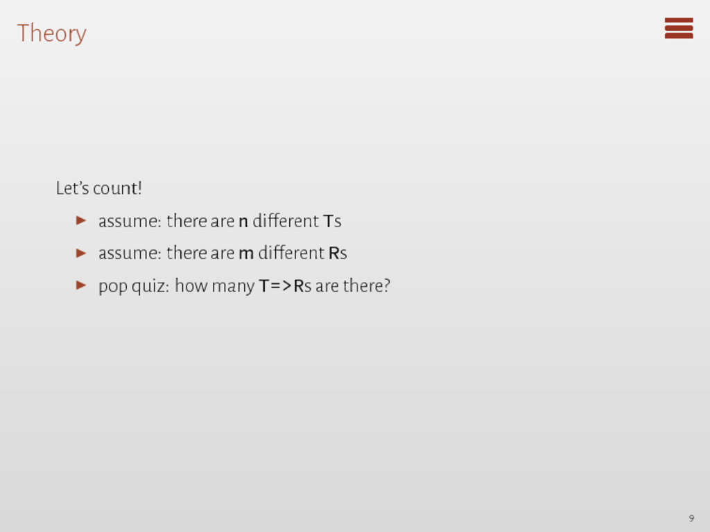 Theory Let's count! ▶ assume: there are n diffe...