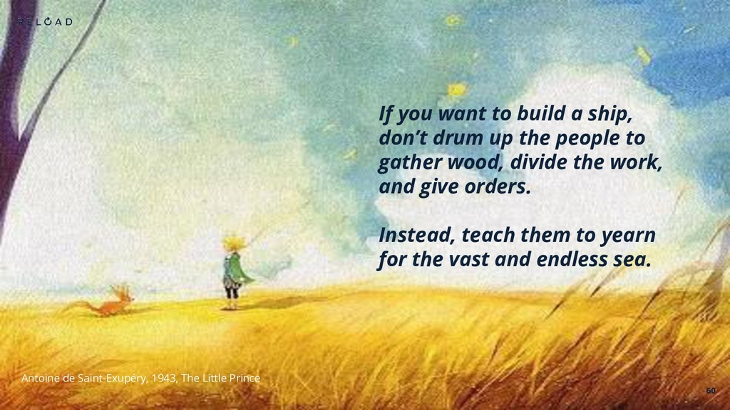 60 If you want to build a ship, don't drum up t...