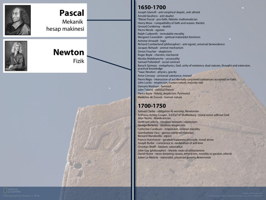 1650-1700 Joseph Glanvill - anti-empirical skep...